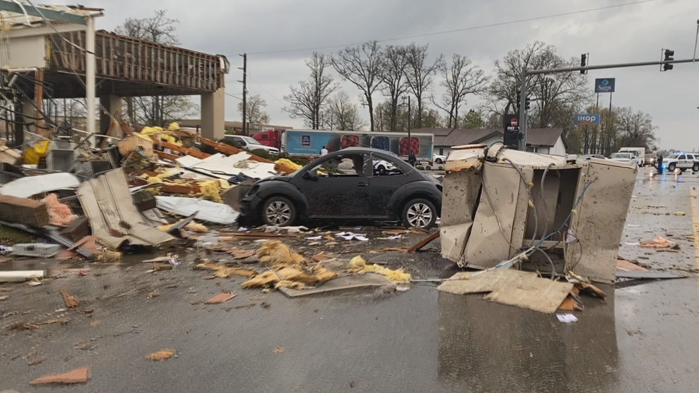 Owner Michael Strieder says when he arrived at his shop, cars were out in the middle of Caraway...