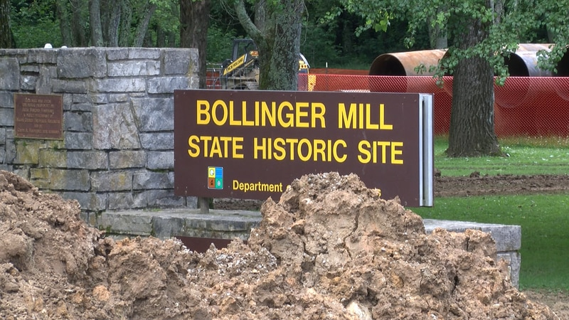 The gates at Bollinger Mill state historic site will work again after 10 years.