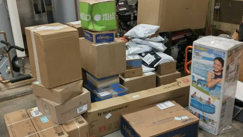 According to the Randolph County Sheriff's Office, approximately 41 packages, supposed to be...