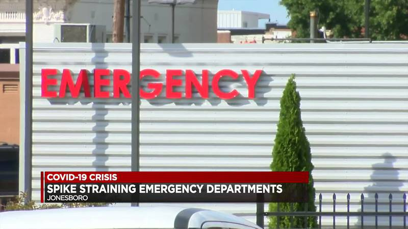 NEA Baptist and St. Bernards Medical Center both say the high volumes are a combination of...