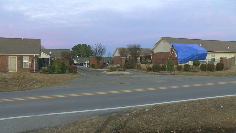 New Year's Day, several residents at the Dogwood Estates Apartments say it looked like a...