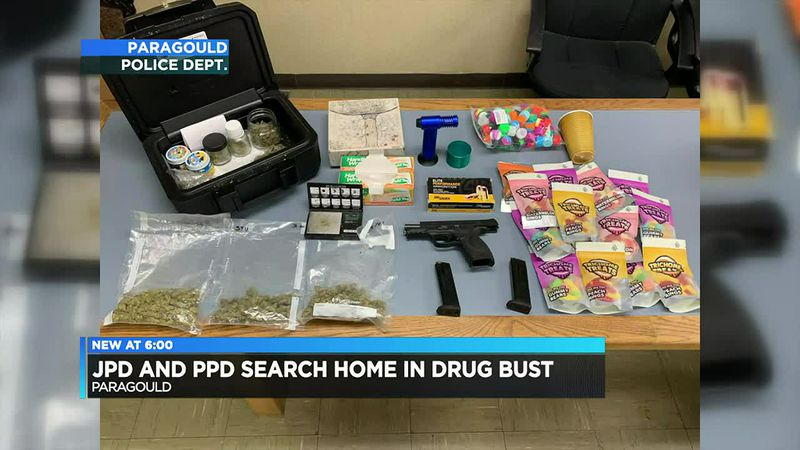 Search uncovers drugs, weapon in Paragould