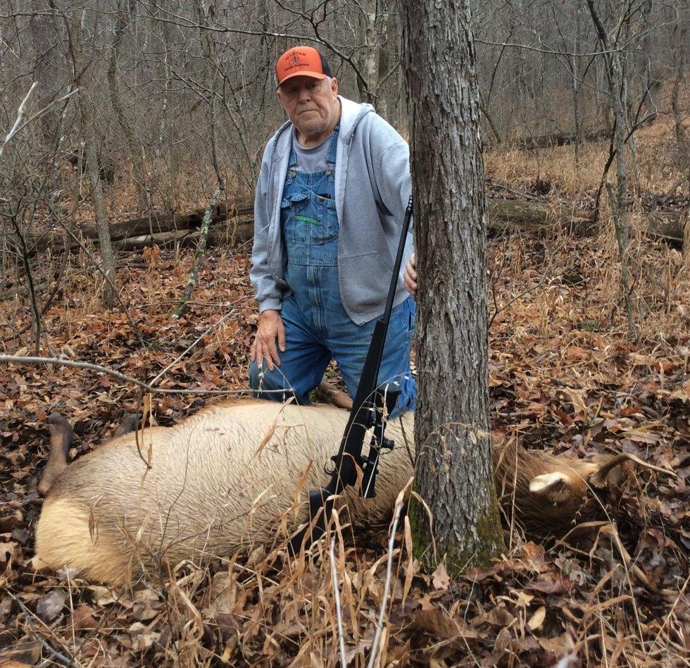 Bill Clark of Van Buren, who was drawn for the resident-landowner antlered-elk permit,...