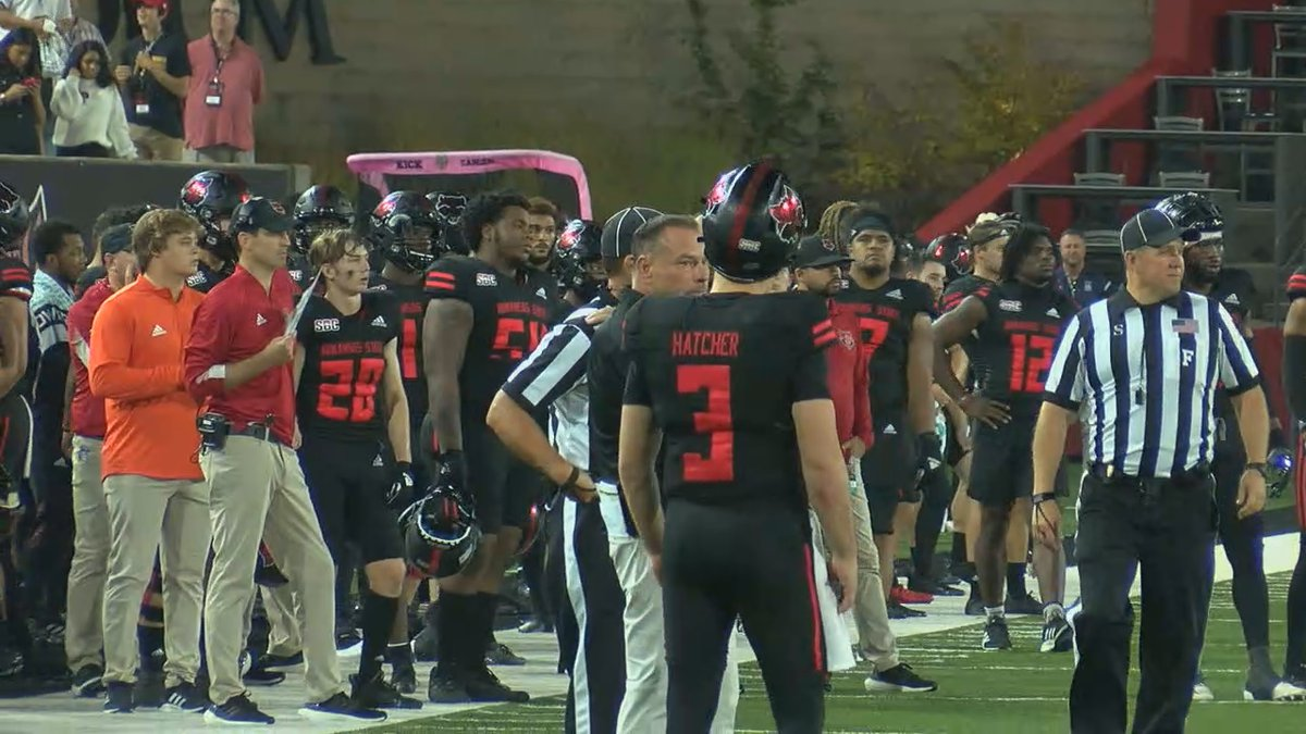 The Red Wolves fell, 52-20 to the 15th-ranked Chanticleers.