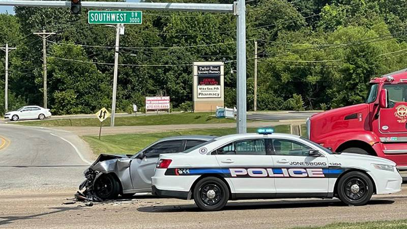 Crews responded Sunday afternoon to a crash involving a vehicle and a Jonesboro fire truck,...