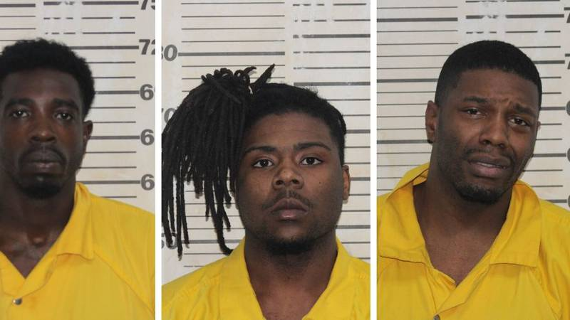 From left: Tremayne Alford, Cordell Smith and Zackier Kelley are facing charges. (Source: New...