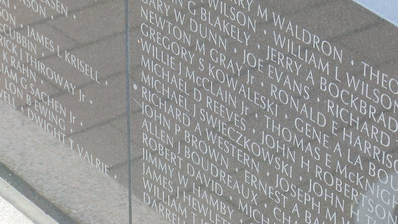 Crowds made their way to the MO National Veterans Memorial... to remember those who lost their...