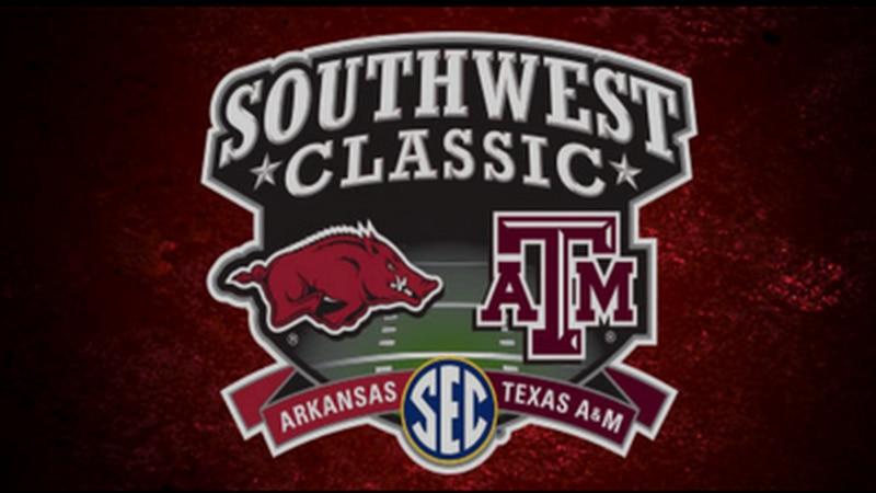 Arkansas & Texas A&M face off annually in football.