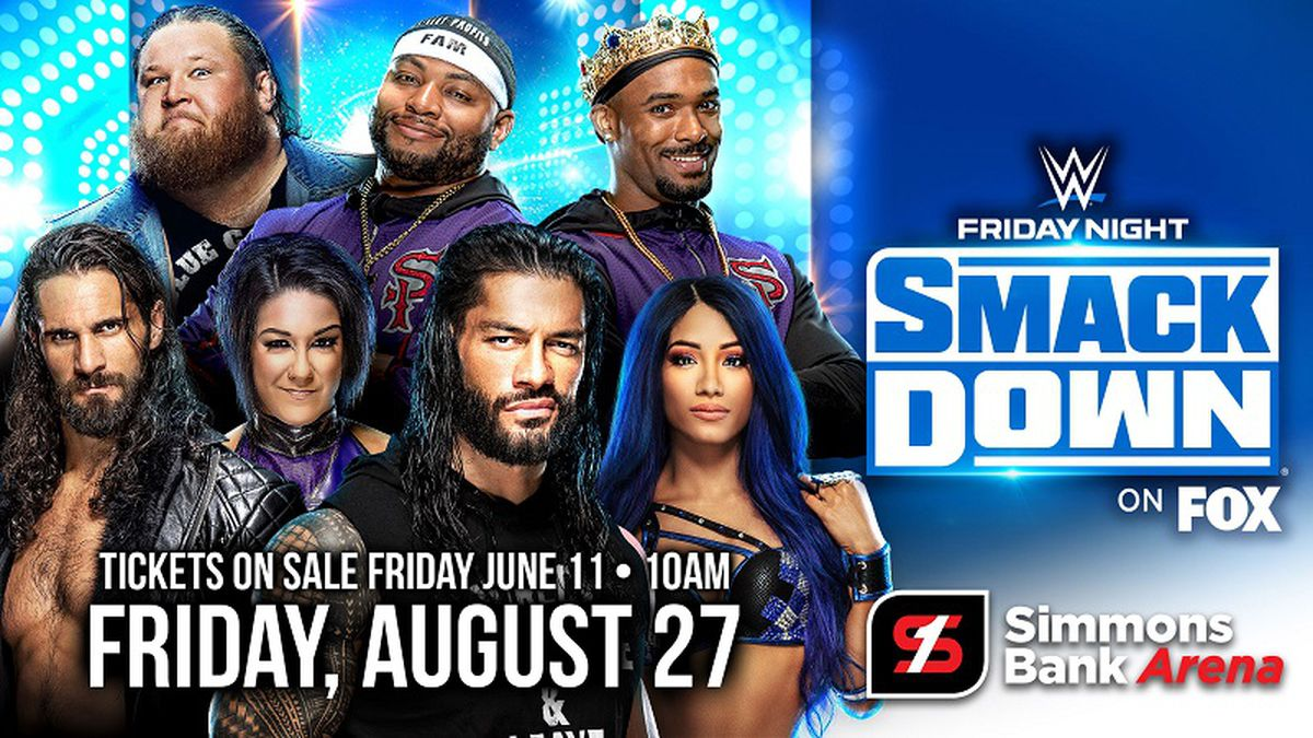 WWE will return to Arkansas on Friday, Aug. 27, when SmackDown comes to the Simmons Bank Arena...