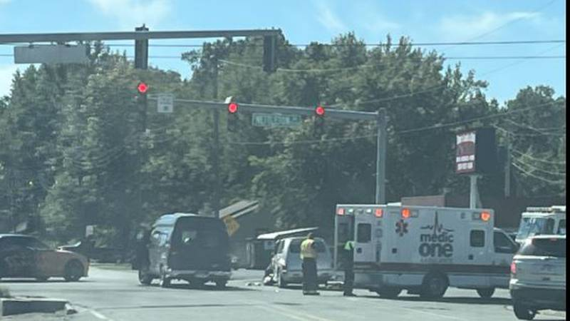The crash happened shortly before noon Monday, Oct. 18, at the intersection of Airport Road and...
