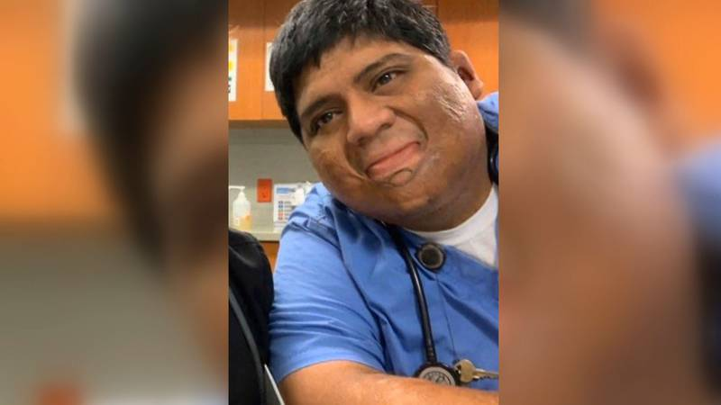 Neff Rios was a nurse at St. Francis Hospital.  His wife says he died from COVID-19...