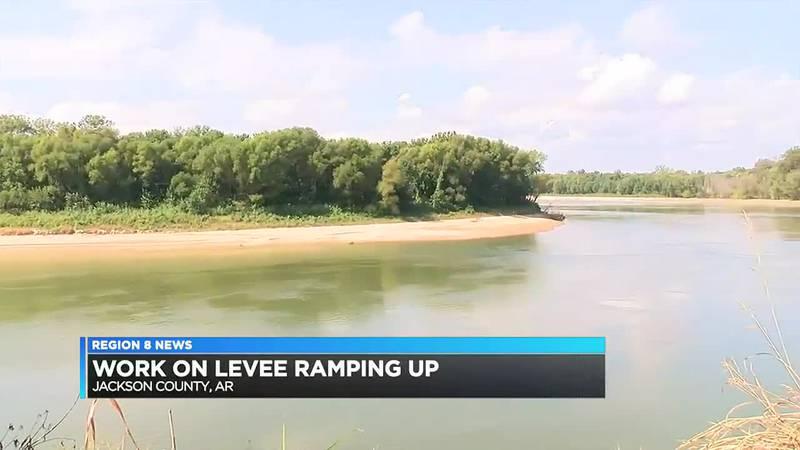 Work on Jackson Co. levee ramping up