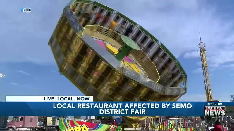 Local restaurant businesses say they have been affected since the SEMO district fair has...