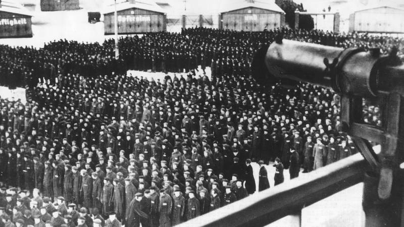 FILE - This undated file photo shows a roll call, in the early morning or late evening hours,...