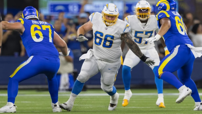 Arkansas State alum and undrafted free agent Forrest Merrill made the Chargers opening day...