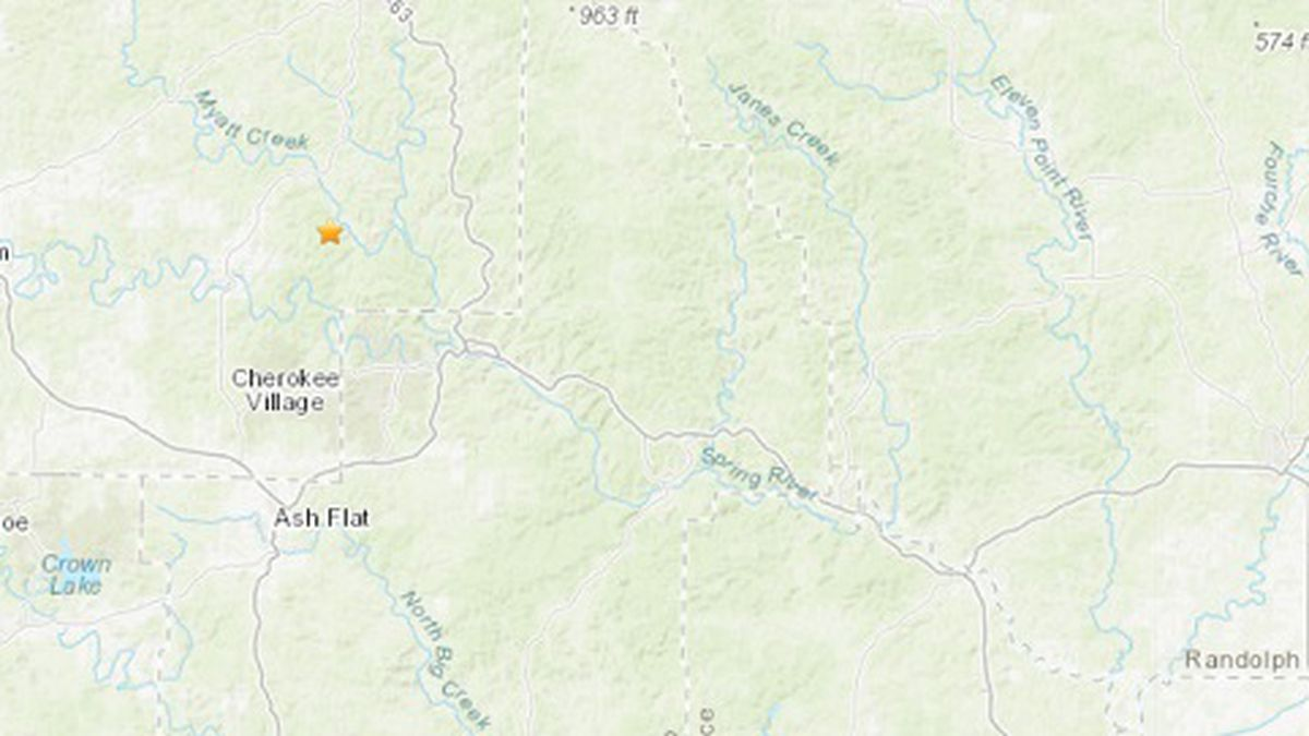 The USGS detected a 2.3 earthquake near Cherokee Village Saturday morning.
