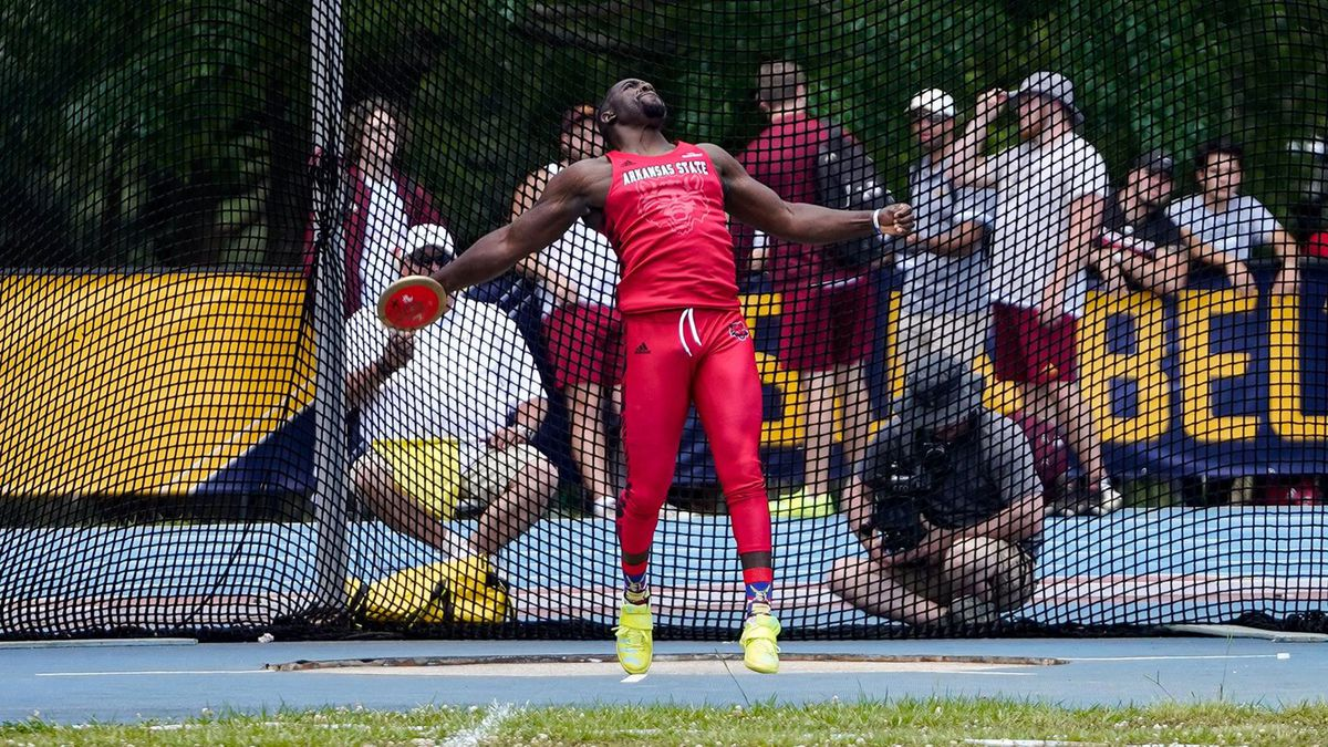 Arkansas State discus thrower Eron Carter qualified for the 2021 NCAA Outdoor Championships