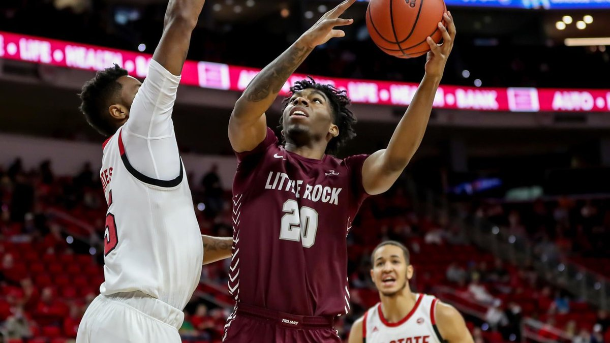 Johnson, who played at Little Rock before transferring to Arkansas, later posted bond and is...