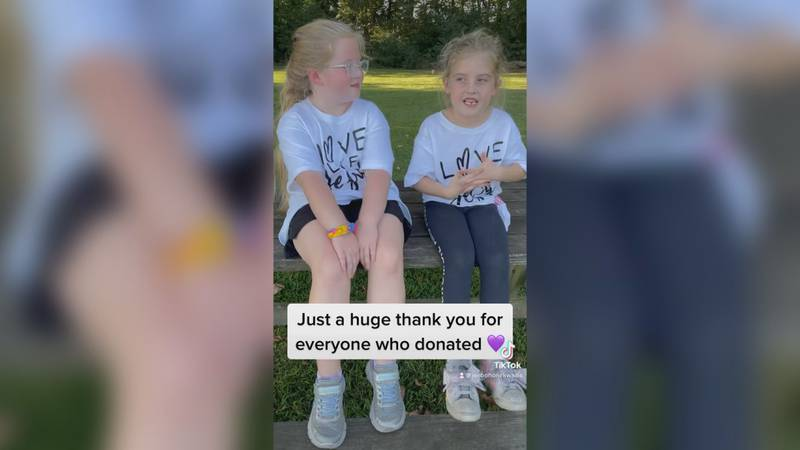 The two girls raised over $1700 for local foster families.