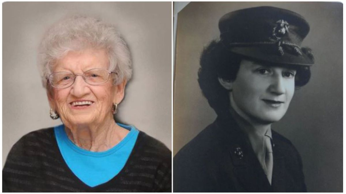 Oldest living Marine celebrated her 107th birthday Saturday.(City of Kannapolis)