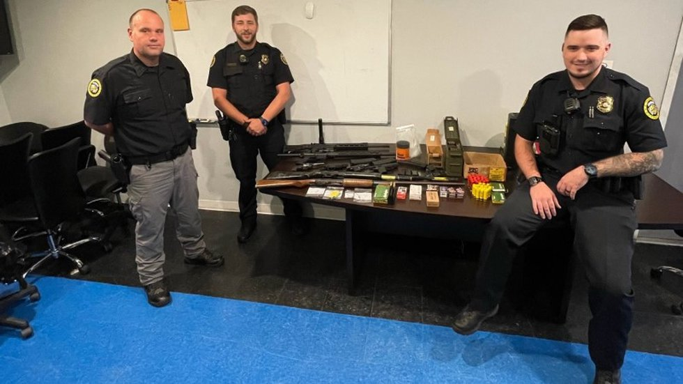 Trumann police investigating a shots-fired call Tuesday say they discovered a cache of weapons.