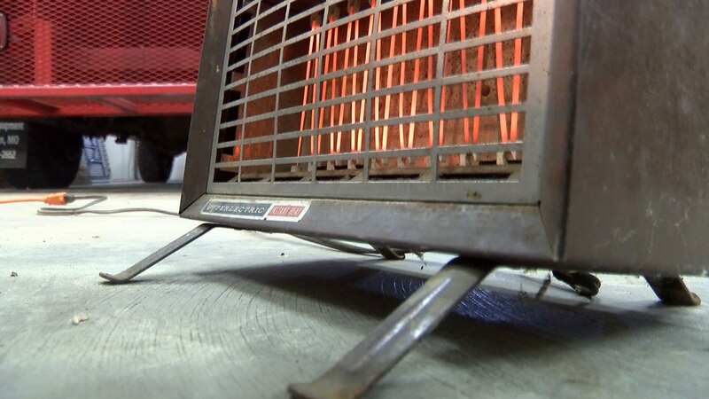 Never leave a space heater unattended