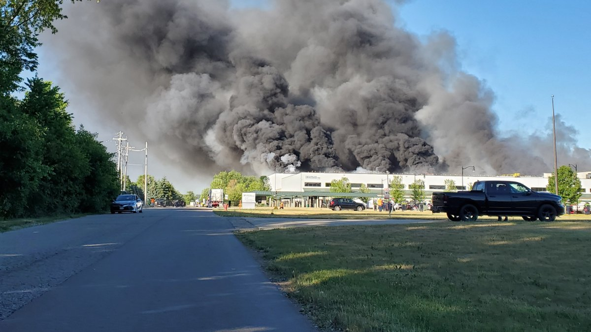 Multiple fire crews are at the scene of a structure fire at Chemtool on Prairie Hill Road in...