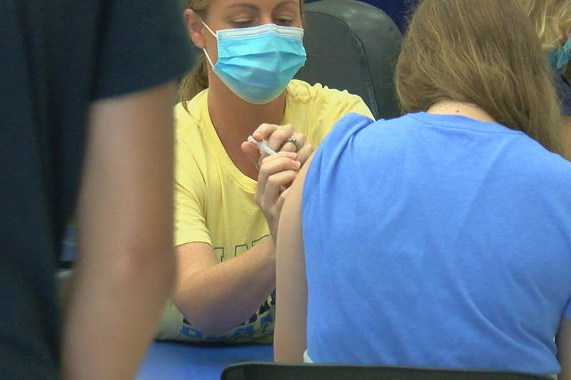 Students get vaccinated before the school year begins.
