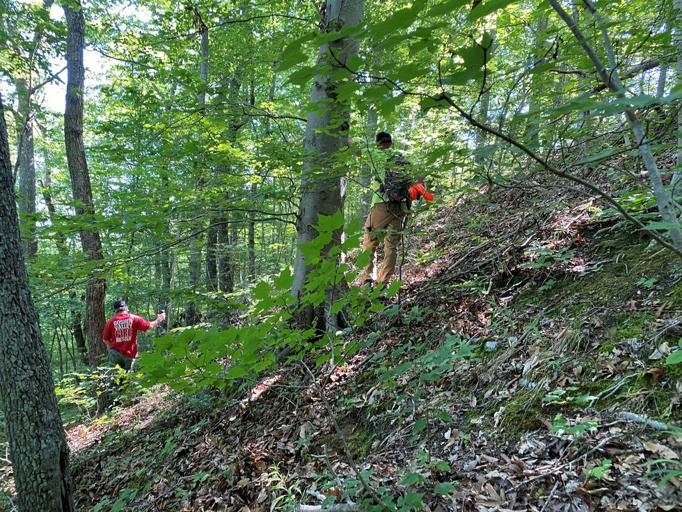 This photo gives you an idea of the difficult terrain teams are dealing with during the search...