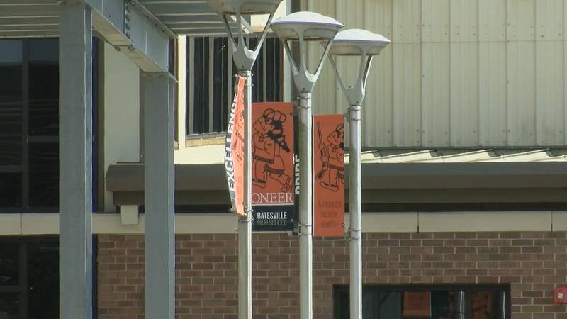 Flags at Batesville High School