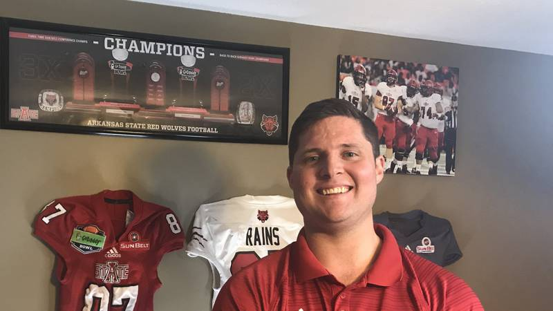 Former Arkansas State TE Kenny Rains launched a podcast this summer. 5 for 5 documents the Red...