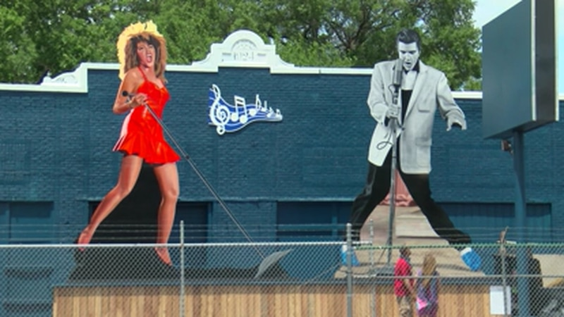 New art installation in Memphis features giant Elvis and Tina Turner