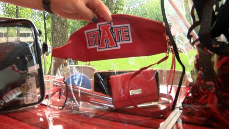 A-state fans react to clear bag policy