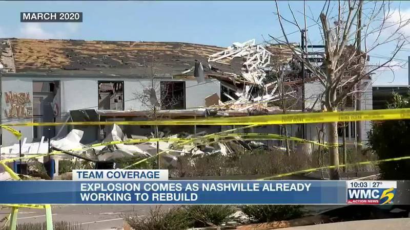 Explosion comes as Nashville already working to rebuild