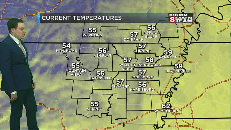 Cooler temperatures to start the day