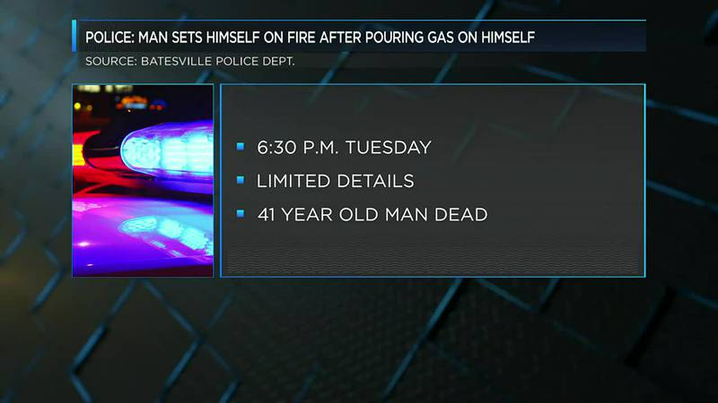 Police: Man dead after setting himself on fire