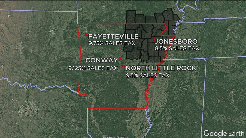 Jonesboro is significantly behind other comparable cities in city sales tax.