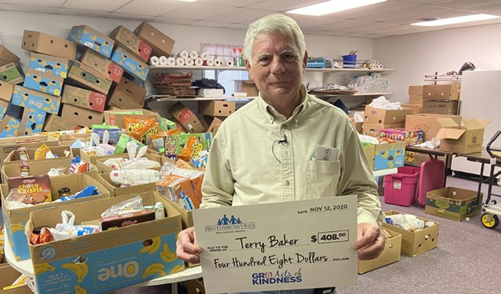 Terry Baker can be found at the Westridge Church of Christ food pantry nearly every day of the...