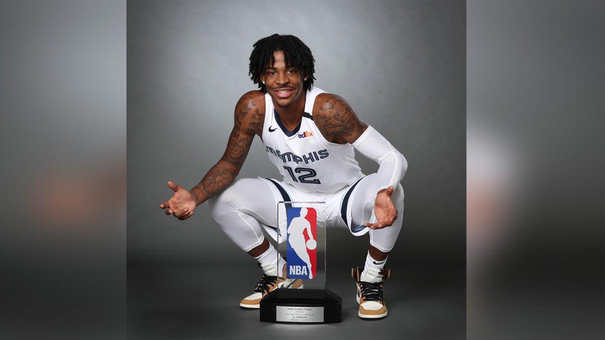 Ja Morant wins NBA Rookie of the Year