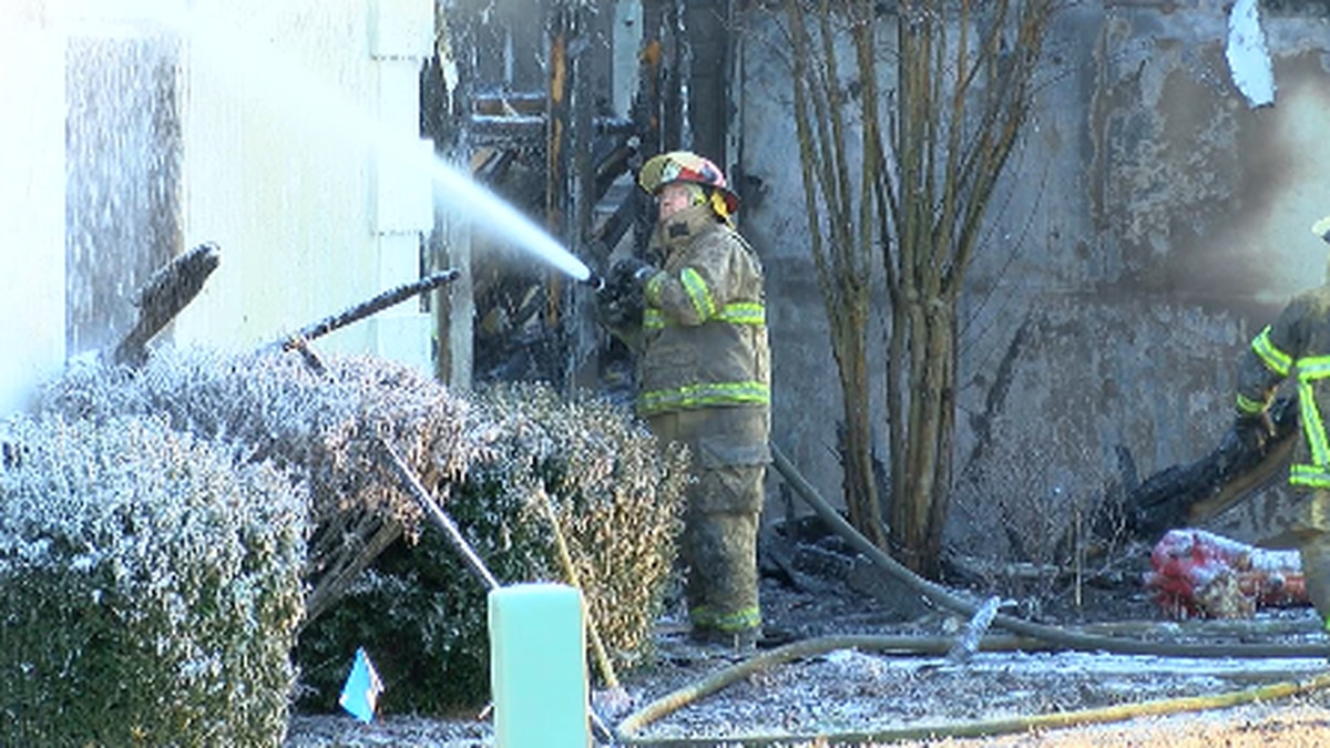 Firefighters braved temperatures in the teens and single-digit wind chills to knock down the...