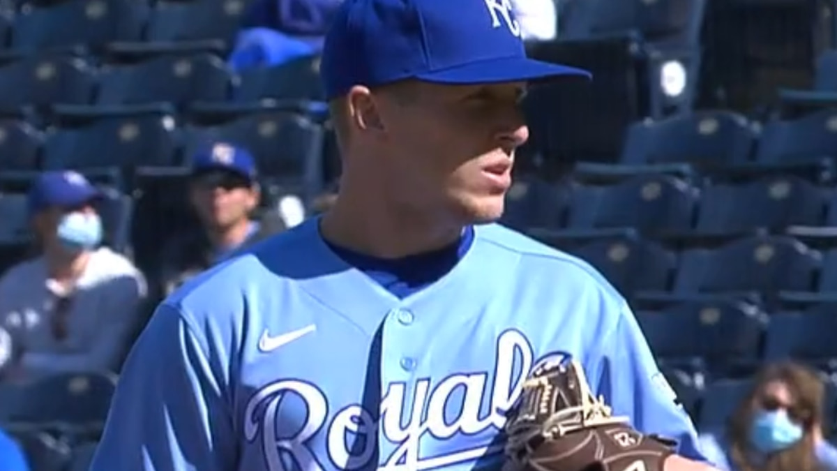 Arkansas State alum Tyler Zuber made his first appearance for the Royals in the 2021 season.