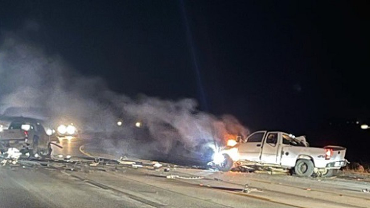 Two people were injured Thursday evening in a two-vehicle crash on Highway 18 near Monette.