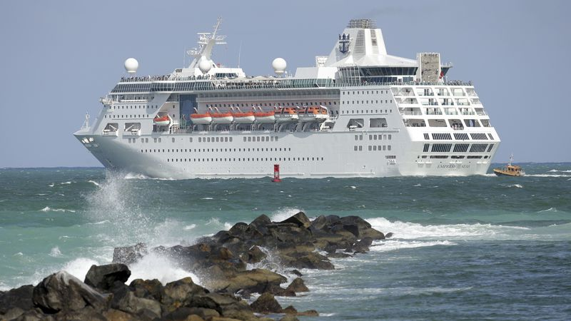 FILE - In this June 20, 2016 file photo, the Royal Caribbean cruise ship Empress of the Seas...