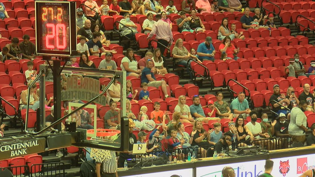 The Globetrotters last performed at the First National Bank Arena in Feb. 2020.