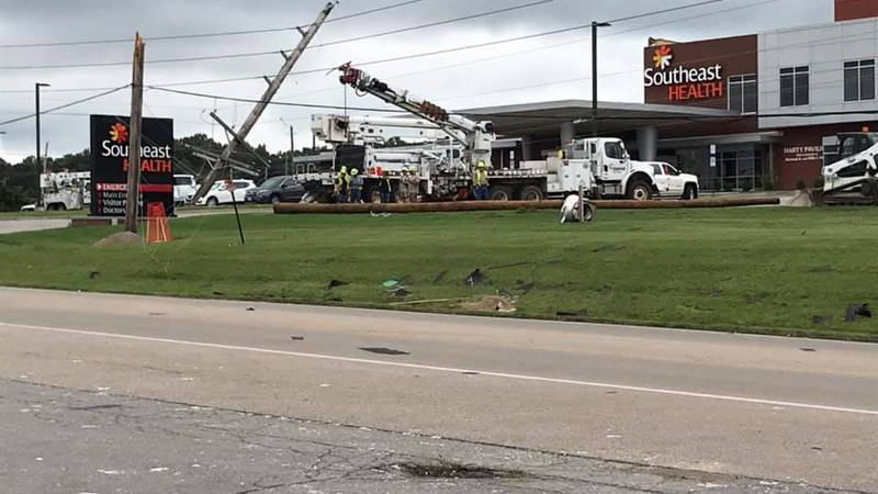 The Southeast Health of Stoddard County hospital took on some moderate damage from Saturday...