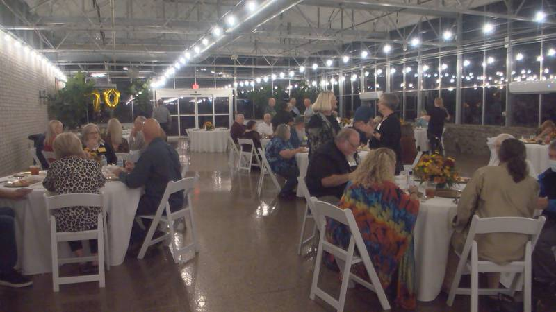 The reunion was at The Gardens at Harmony and consisted of a dinner and an auction.