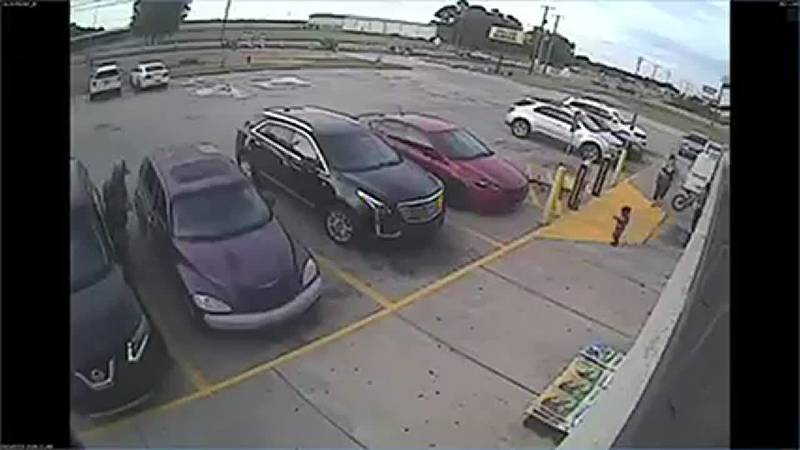 Police need help identifying a man they say stole a woman's purse from a parked car.