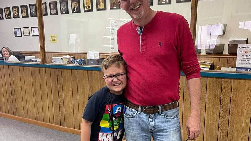 """Max Boatwright was named """"Mayor for the Day"""" in Portageville, Mo."""