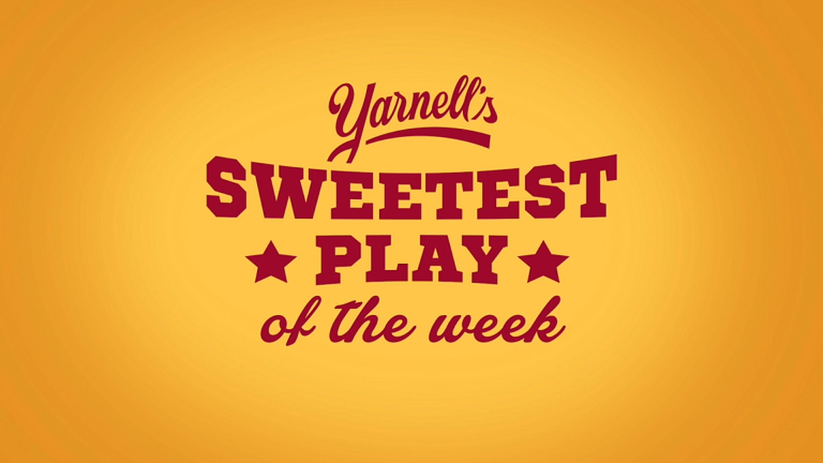 2020 logo for the Yarnell's Sweetest Play of the Week