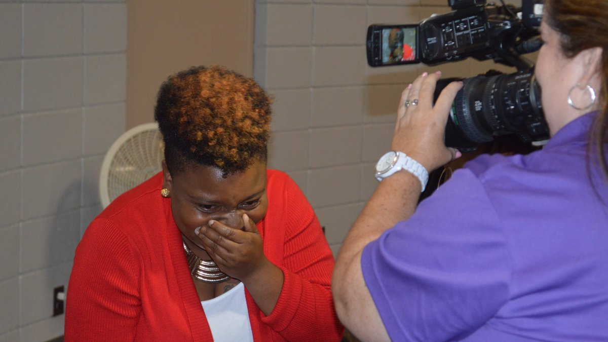"""""""Miss Q"""" was overwhelmed with emotion upon hearing that she was nominated for the Gr8 Acts of..."""